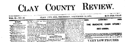 Bowling Green Clay County Review newspaper archives