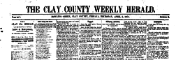 Bowling Green Clay County Weekly Herald newspaper archives