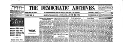 Bowling Green Democratic Archives newspaper archives