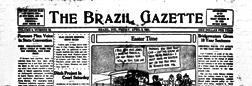 Brazil Gazette newspaper archives