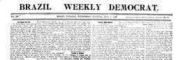Brazil Weekly Democrat newspaper archives