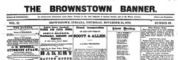 Brownstown Banner newspaper archives