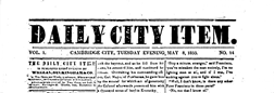 Cambridge City Daily Item newspaper archives