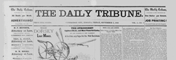 Cambridge City Daily Tribune newspaper archives
