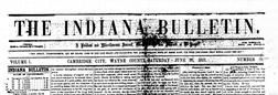 Cambridge City Indiana Bulletin newspaper archives
