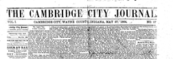 Cambridge City Journal newspaper archives