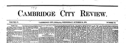 Cambridge City Review newspaper archives