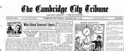 Cambridge City Tribune newspaper archives