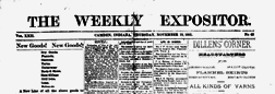 Camden Weekly Expositor newspaper archives