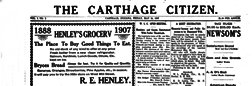 Carthage Citizen newspaper archives