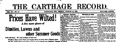 Carthage Record newspaper archives