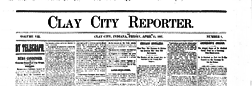 Clay City Reporter newspaper archives