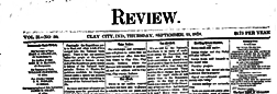 Clay City Review newspaper archives