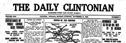 Clinton Daily Clintonian newspaper archives