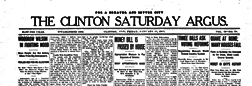 Clinton Saturday Argus newspaper archives