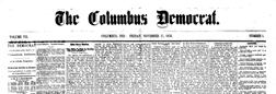 Columbus Democrat newspaper archives