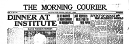 Connersville Morning Curier newspaper archives