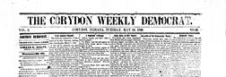 Corydon Weekly Democrat newspaper archives