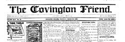 Covington Friend newspaper archives