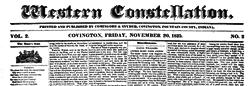 Covington Western Constellation newspaper archives