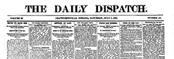 Crawfordsville Daily Dispatch newspaper archives