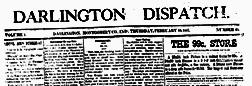 Darlington Dispatch newspaper archives