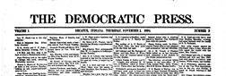 Decatur Democrat Press newspaper archives