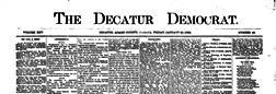 Decatur Democrat newspaper archives