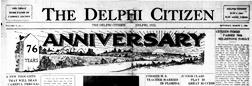 Delphi Citizen newspaper archives
