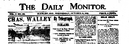 Elkhart Daily Monitor newspaper archives