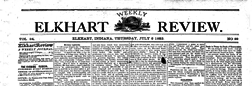 Elkhart Weekly Review newspaper archives