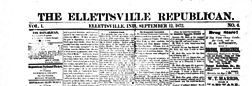 Ellettsville Republican newspaper archives