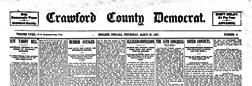 English Crawford County Democrat newspaper archives