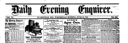 Evansville Daily Evening Enquirer newspaper archives