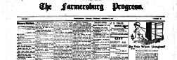 Farmersburg Progress newspaper archives