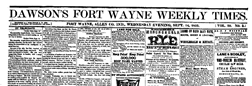 Dawsons Fort Wayne Weekly Times newspaper archives