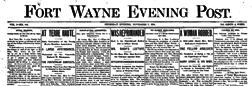 Fort Wayne Evening Post newspaper archives