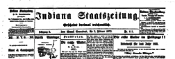 Fort Wayne Indiana Staatszeitung newspaper archives