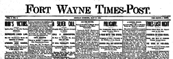 Fort Wayne Times Post newspaper archives