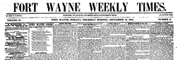 Fort Wayne Weekly Times newspaper archives