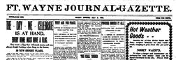 Ft Wayne Journal Gazette newspaper archives