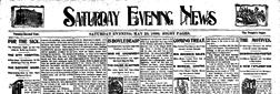 Saturday Evening News newspaper archives