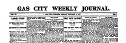 Gas City Weekly Journal newspaper archives