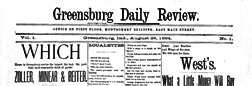 Greensburg Daily Review newspaper archives