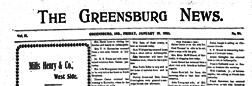 Greensburg News newspaper archives