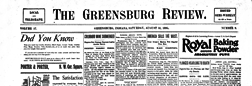 Greensburg Review newspaper archives