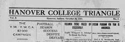 Hanover College Triangle newspaper archives