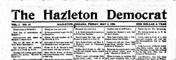 Hazleton Democrat newspaper archives