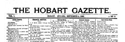 Hobart Gazette newspaper archives