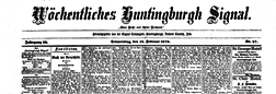 Wochentliches Huntingburgh Signal newspaper archives